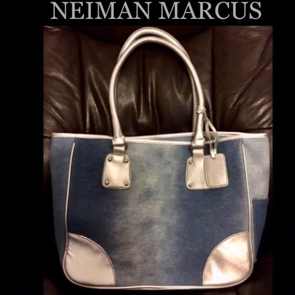 Neiman Marcus Handbags - NEIMAN MARCUS Denim handbag